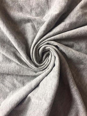 Gray Solid Sinker Cotton Fabric