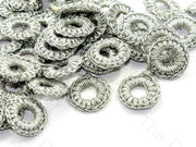 Gray 1 CM Round Crochet Thread Rings | The Design Cart