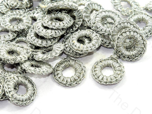 Gray 1 CM Round Crochet Thread Rings