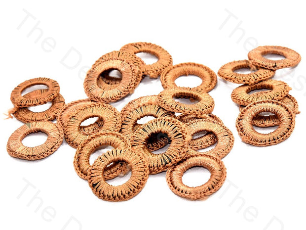 Brown Small Round Crochet Thread Rings | The Design Cart