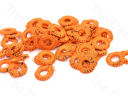 Orange Small Round Crochet Thread Rings | The Design Cart
