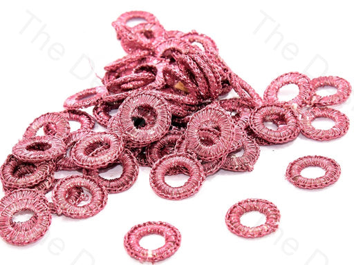 Peach Small Round Crochet Thread Rings