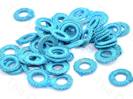 Sky Blue Small Round Crochet Thread Rings