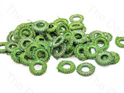 Green Small Round Crochet Thread Rings | The Design Cart
