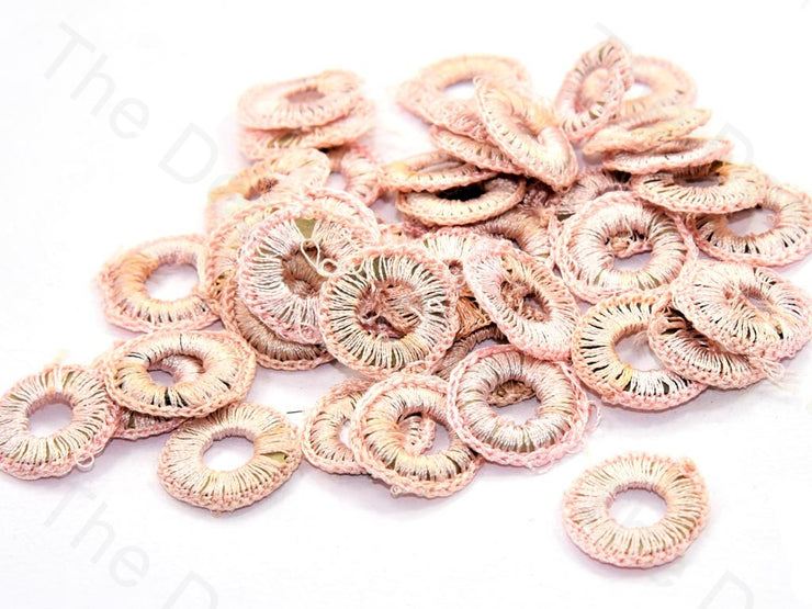 Light Peach Small Round Crochet Thread Rings | The Design Cart (538807631906)