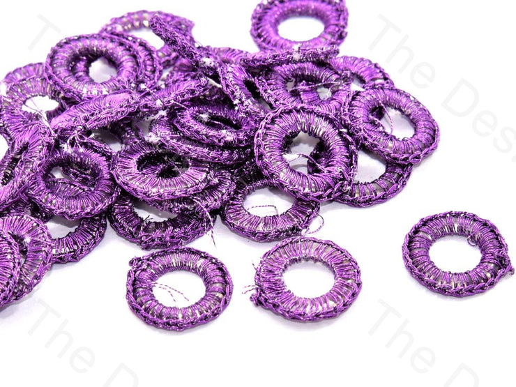 Purple Small Round Crochet Thread Rings | The Design Cart (538807664674)