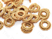 Fade Brown Small Round Crochet Thread Rings | The Design Cart