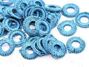 Turquoise Small Round Crochet Thread Rings | The Design Cart (538807828514)
