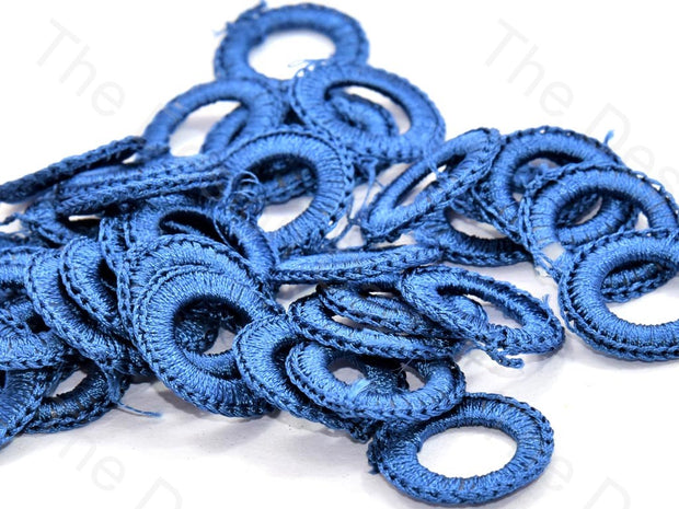 Blue Medium Round Crochet Thread Rings | The Design Cart