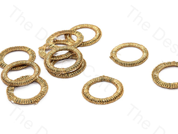Gold Large Round Crochet Thread Rings | The Design Cart