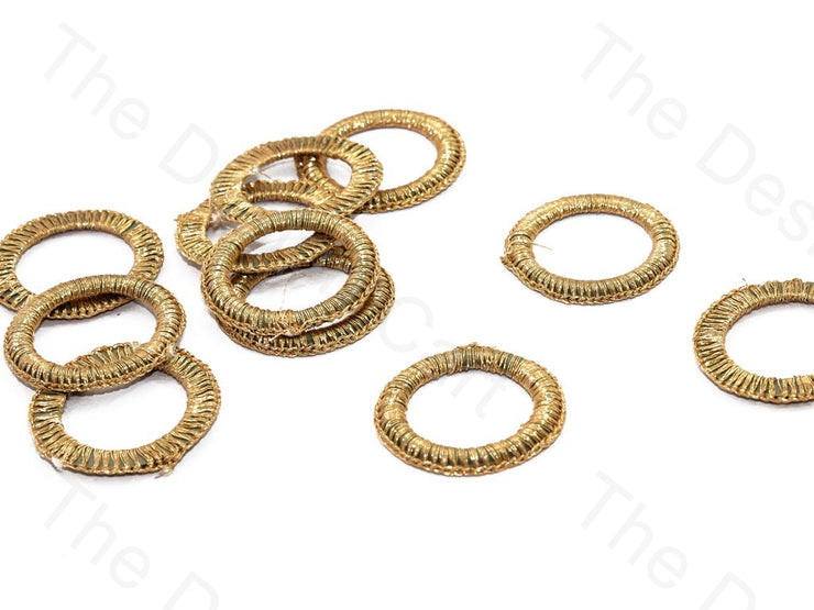 Gold Large Round Crochet Thread Rings | The Design Cart (538808025122)