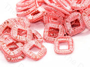 Baby Pink Small Square Crochet Thread Rings | The Design Cart (538808516642)
