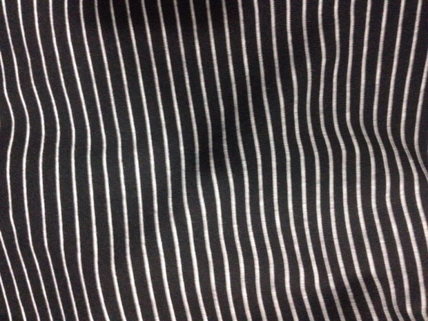 Black White Stripes Heavy Lycra Fabric | The Design Cart (4322314616901)
