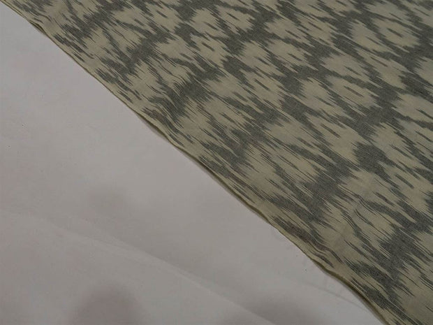 Gray Cream / Off White Single Ikat Cotton Fabric (1572557881378)