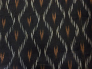 Black Ikat Print Design Cotton Ikat Fabric (1737844293666)