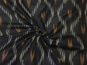 Black Design Cotton Ikat Fabric | The Design Cart (1737844293666)