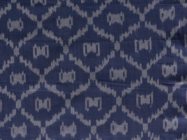 Blue Cotton Hand Dyed Ikat Woven Fabric | The Design Cart (1872213704738)
