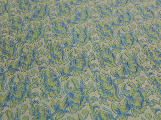 Light Blue Snow Flake Design Cotton Jersey Fabric