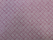 White & Pink Geometric Print Design Rayon Fabric | The Design Cart