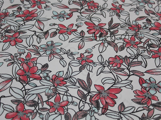 Black White Straw Print Design Cotton Jersey Fabric