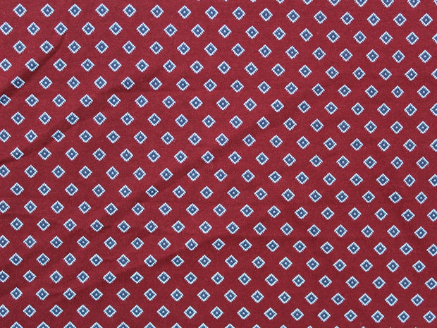 Maroon Geometric Design Cotton Jersey Fabric