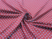 Maroon Geometric Design Cotton Jersey Fabric | The Design Cart