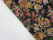 Multicolour Flower Print Design Poly Chiffon Fabric | The Design Cart (4360509358149)