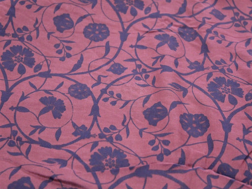 Maroon Flower Design Polyester Velvet Fabric