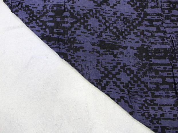 Purple Abstract Print Design Crepe Rayon Fabric | The Design Cart
