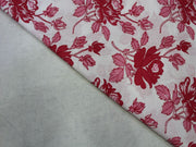 White Red Flower Design Cotton  Fabric | The Design Cart