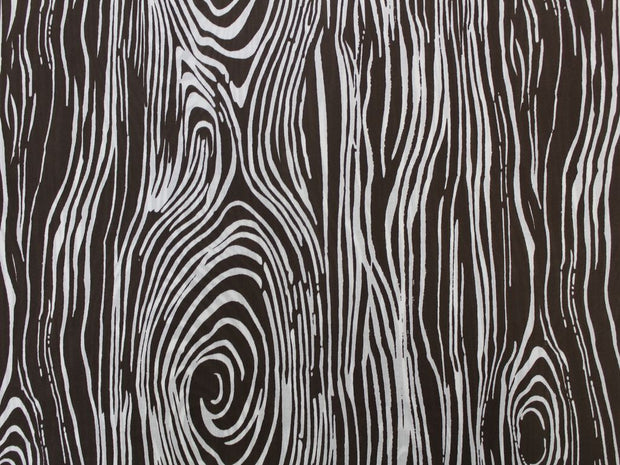 Brown Wave Design Cotton  Fabric | The Design Cart
