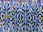 Blue Ikat Print Design Cotton  Fabric | The Design Cart