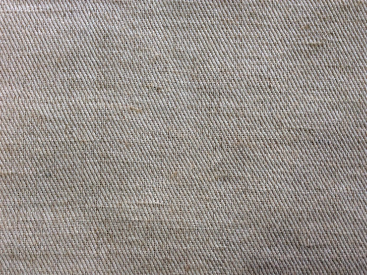 Off White Cotton Jute Twill Weave Fabric | The Design Cart