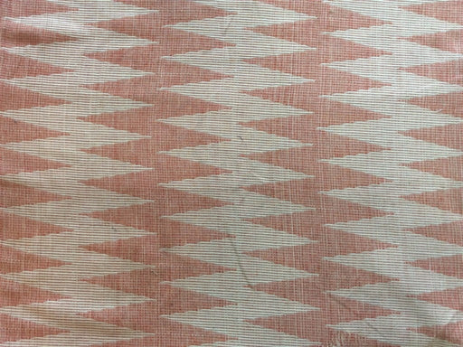 Light Pink White Chevron Cotton Jacquard Fabric