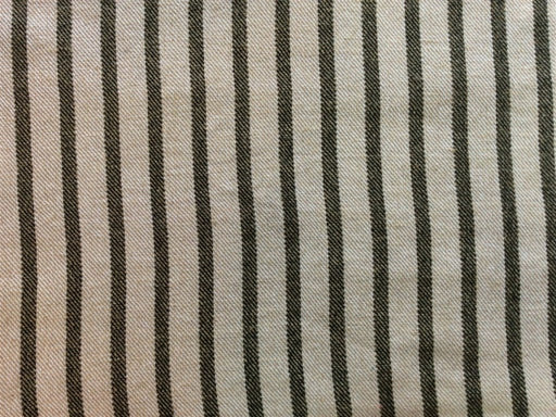 Off White Gray Stripes Cotton Jute Jacquard Fabric