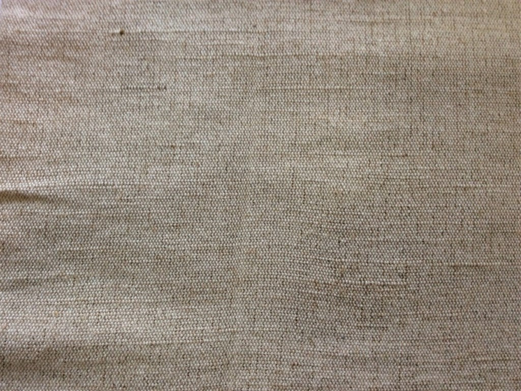 Off White Brown Cotton Jute Blend Fabric (Dyeable)   The Design Cart