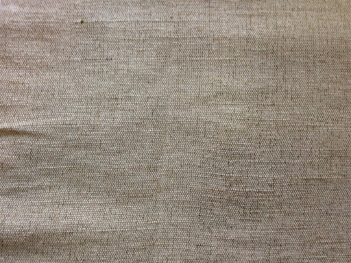 Off White Brown Cotton Jute Blend Fabric (Dyeable)
