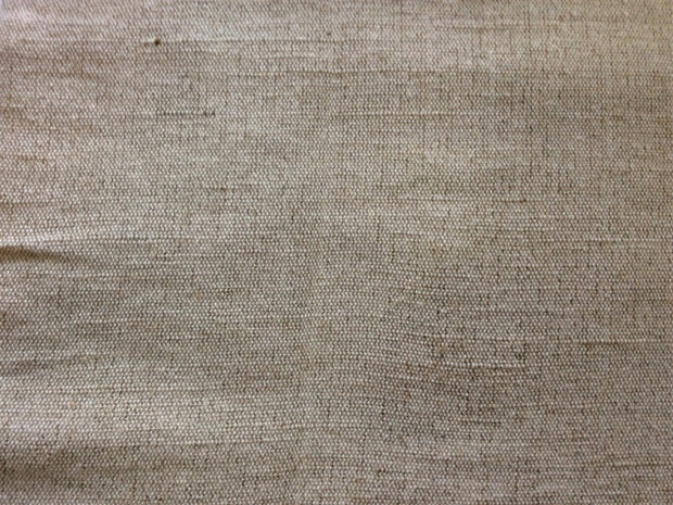 Off White Brown Cotton Jute Blend Fabric (Dyeable) | The Design Cart