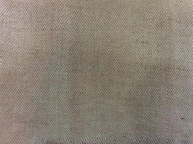 Cotton Jute Blend Herringbone Weave Fabric (Dyeable) | The Design Cart