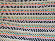 Multicolour Geometric Design Cotton Jacquard Fabric | The Design Cart