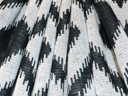 White Black Argyle Cotton Jacquard Fabric | The Design Cart (3768615567394)