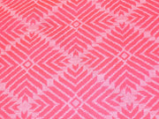 Pink Geometric Argyle Cotton Jacquard Fabric | The Design Cart