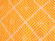 Mustard Yellow Geometric Argyle Cotton Jacquard Fabric | The Design Cart
