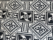 White Black Geometric Cotton Jacquard Fabric | The Design Cart