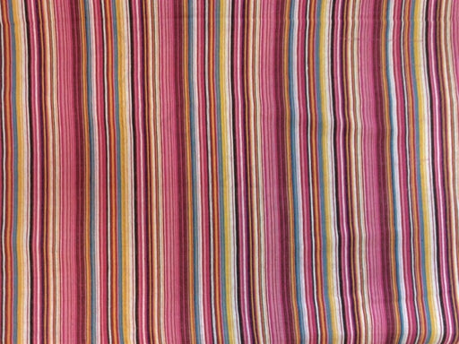 Pink Yellow Stripes Cotton Jacquard Fabric