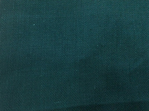 Teal Green Pure Jute Herringbone Fabric