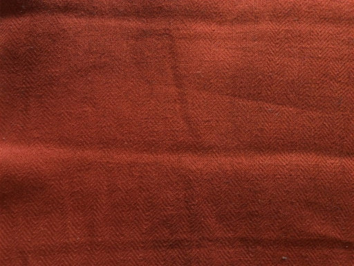 Orange Pure Jute Herringbone Fabric