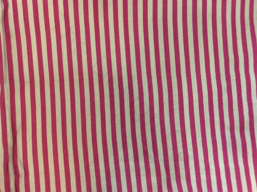 Pink White Stripes Cotton Jacquard Fabric