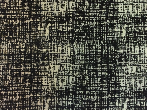 Black White Abstract Cotton Jacquard Fabric