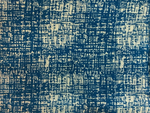 Blue White Abstract Cotton Jacquard Fabric